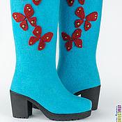 """Обувь ручной работы. Ярмарка Мастеров - ручная работа Сапоги """"Бабочки летают, бабочки!"""". Handmade."""
