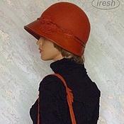 "Аксессуары ручной работы. Ярмарка Мастеров - ручная работа Шляпка, сумка ""Осенняя палитра"" валяная кожаная. Handmade."