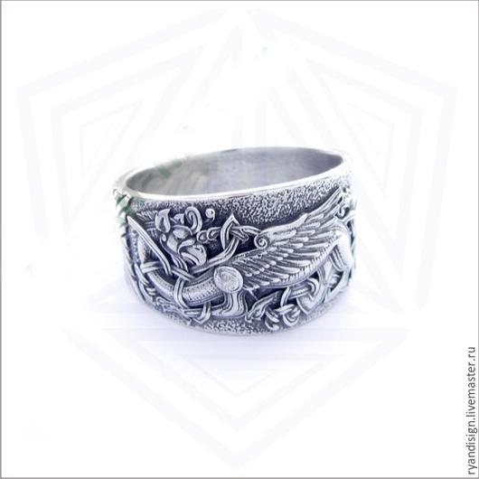 Кольцо Грифон мужское женское подарок мужчине женщине