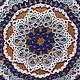 Текстиль, ковры ручной работы. Салфетка круглая синяя диаметром 30 см в технике фриволите. Маргарита (Goton). Интернет-магазин Ярмарка Мастеров.