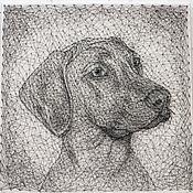 Картины и панно ручной работы. Ярмарка Мастеров - ручная работа портрет собаки в стиле стринг арт. Handmade.