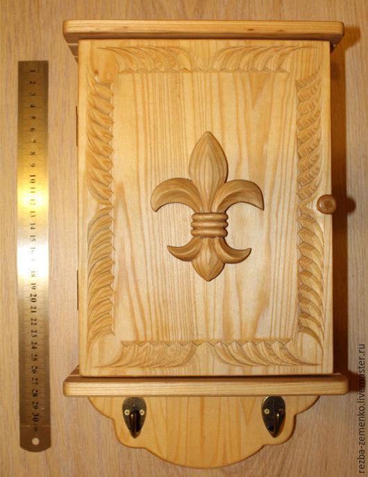 Прихожая ручной работы. Ярмарка Мастеров - ручная работа. Купить Ключница большая. Handmade. Ключница ручной работы, резьба по дереву
