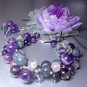 Украшения handmade. Livemaster - original item Weightlessness. Kit. Bracelet, brooch and earrings.. Handmade.