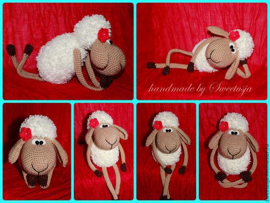 Игрушки животные, ручной работы. Ярмарка Мастеров - ручная работа. Купить Овечка Омм. Handmade. Овечка, овца, микрофибра