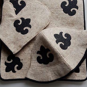 Для дома и интерьера ручной работы. Ярмарка Мастеров - ручная работа Войлочный набор для бани. Handmade.
