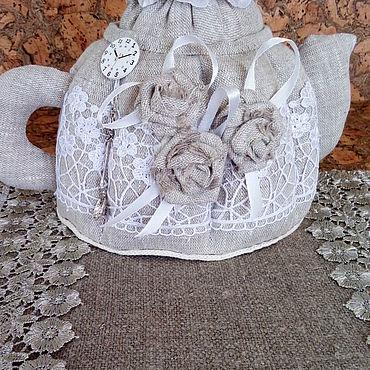 Для дома и интерьера ручной работы. Ярмарка Мастеров - ручная работа Чайник-шкатулка льняное царство. Handmade.