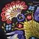 Коллекционный ридикюль `Mystic Garden`, фрагмент вышивки