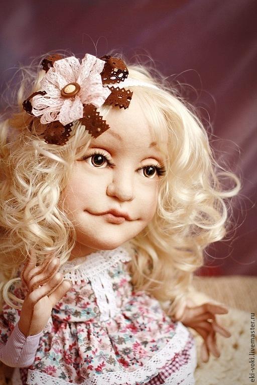 Коллекционные куклы ручной работы. Ярмарка Мастеров - ручная работа. Купить Текстильная куколка Эльза. Handmade. Сиреневый, нежность, милашка