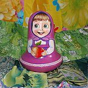 Куклы и игрушки handmade. Livemaster - original item Tumbler toy music Masha Masha and the bear. Handmade.