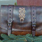 Канцелярские товары handmade. Livemaster - original item Folder for documents made of genuine leather. Handmade.