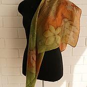 Аксессуары ручной работы. Ярмарка Мастеров - ручная работа шелковый платок ручного крашения. Handmade.