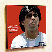 Картины и панно handmade. Livemaster - original item Painting Pop Art Diego Maradona. Handmade.