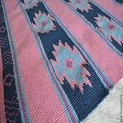 "Для дома и интерьера handmade. Livemaster - original item Wool blanket ""Navajo"", blue, pink. Handmade."