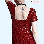 Одежда handmade. Livemaster - original item Openwork tunic red. Handmade.