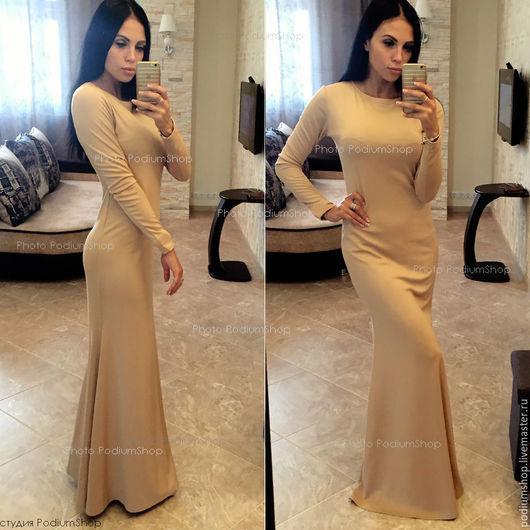 Платье в пол Русалка из трикотажа