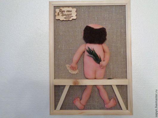 Люди, ручной работы. Ярмарка Мастеров - ручная работа. Купить Баня -1. Handmade. Бежевый, баня, бортовка, Дерево натуральное