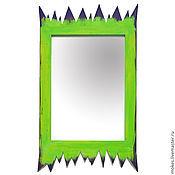 Для дома и интерьера ручной работы. Ярмарка Мастеров - ручная работа Зеркало в раме на стену оригинальное «Тайны Африки». Handmade.