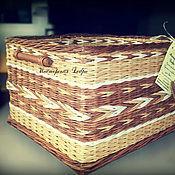 """Для дома и интерьера ручной работы. Ярмарка Мастеров - ручная работа Коробы плетеные для хранения """"Бабушкино вязание"""" любые размеры. Handmade."""