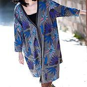 Одежда ручной работы. Ярмарка Мастеров - ручная работа Серый пиджак большой размер. Handmade.