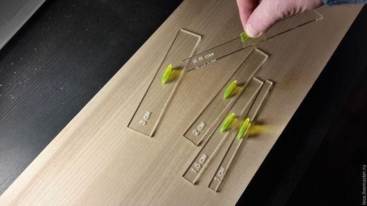 Шитье ручной работы. Ярмарка Мастеров - ручная работа. Купить набор припусков на шов с ручкой /толщина 1,5мм-3мм/ с разметкой. Handmade.