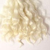 Материалы для творчества handmade. Livemaster - original item Tress for dolls, handmade (Hair for dolls white). Handmade.