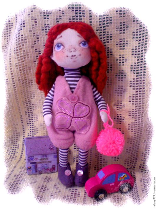 Коллекционные куклы ручной работы. Ярмарка Мастеров - ручная работа. Купить текстильная кукла Люся. Handmade. Розовый
