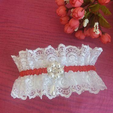 Свадебный салон ручной работы. Ярмарка Мастеров - ручная работа Подвязки: свадебные для невесты. Handmade.
