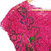 Одежда handmade. Livemaster - original item Summer tunic From India, Sari silk. Handmade.