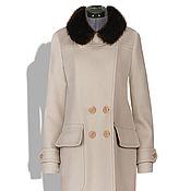 Одежда ручной работы. Ярмарка Мастеров - ручная работа Пальто зимнее драповое Эмбер с натуральным мехом лисы. Handmade.