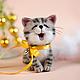 Игрушки животные, ручной работы. Ярмарка Мастеров - ручная работа. Купить мини-котик. Handmade. Серый, войлочная игрушка