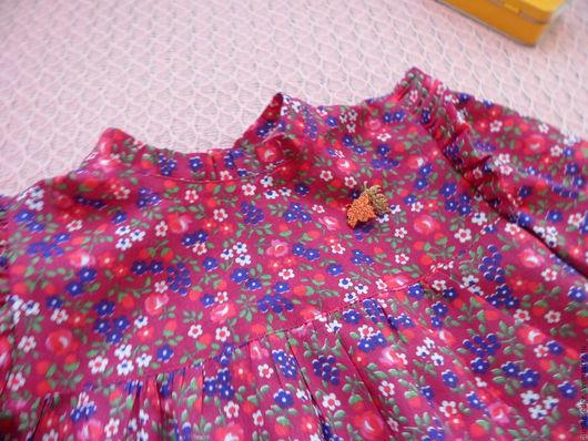 Одежда для девочек, ручной работы. Ярмарка Мастеров - ручная работа. Купить Платье для девочки Брусничный вальс. Handmade. Коралловый