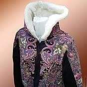 Одежда ручной работы. Ярмарка Мастеров - ручная работа Куртки из павлопосадского платка. Handmade.