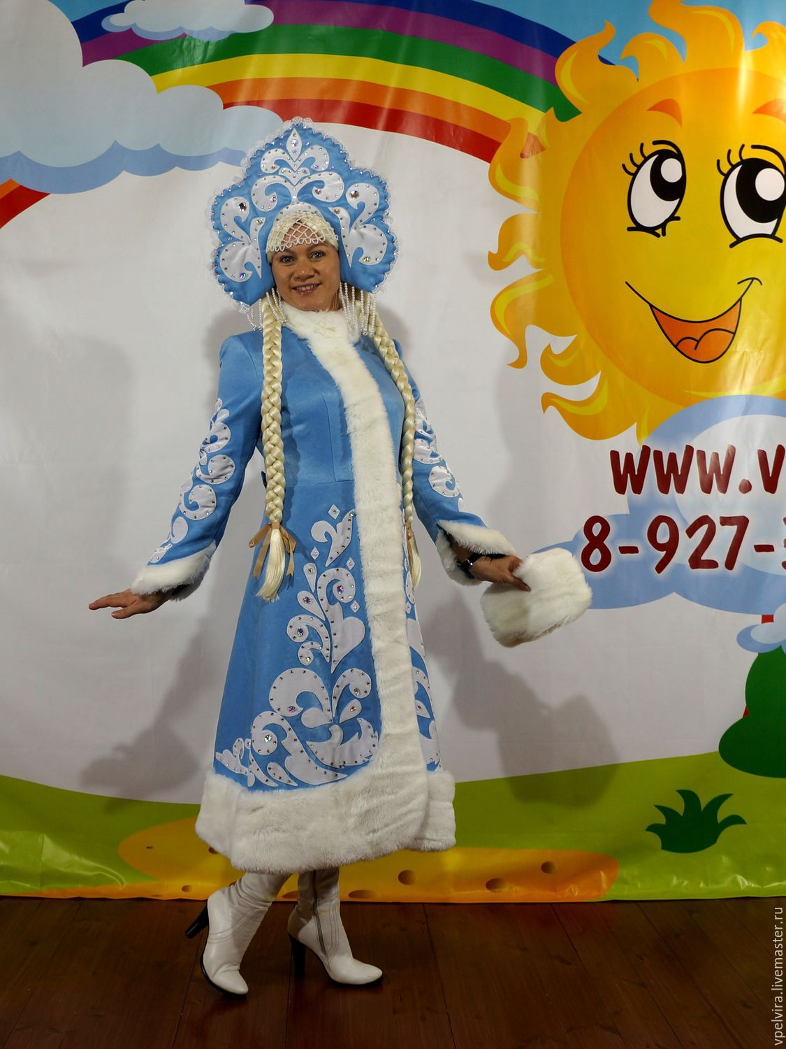 Suit snow maiden with headdress