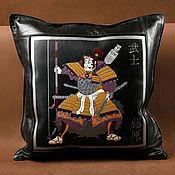 Для дома и интерьера handmade. Livemaster - original item SAMURAI leather cushion. Handmade.