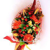"""Цветы и флористика ручной работы. Ярмарка Мастеров - ручная работа Букет из конфет """"Осенний"""" в наличии. Handmade."""