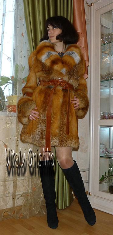 """Верхняя одежда ручной работы. Ярмарка Мастеров - ручная работа. Купить Шуба из лисы """"Огнёвка"""". Handmade. Рыжий, огневка"""