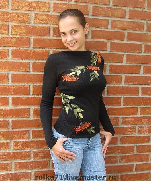 Sweatshirts & Sweaters handmade. Livemaster - handmade. Buy jacket Ryabina.Blouse, architectural drawing, metal fittings