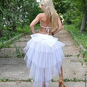 Шлейф юбки из фатина своими руками фото пошагово