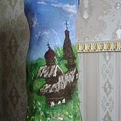 Одежда ручной работы. Ярмарка Мастеров - ручная работа Женское валяное платье Хохловка. Handmade.