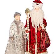 Куклы и игрушки ручной работы. Ярмарка Мастеров - ручная работа Дед Мороз со Снегурочкой (продаются в паре). Handmade.