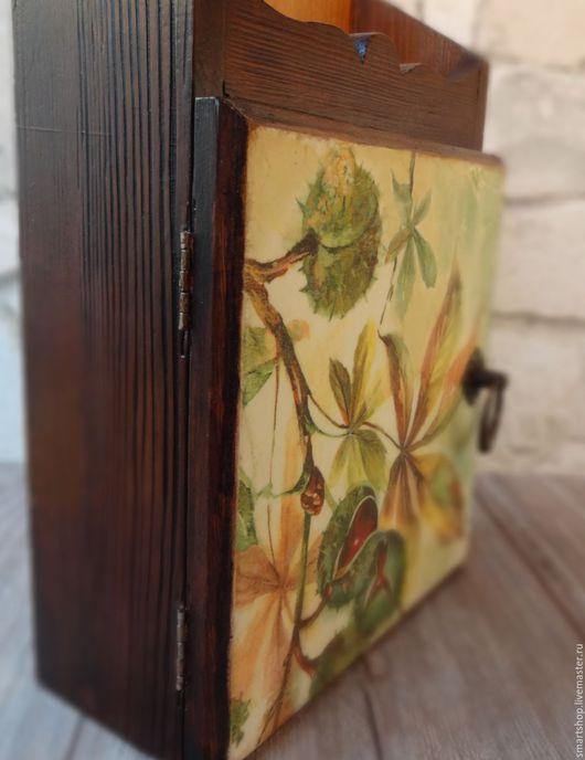 Прихожая ручной работы. Ярмарка Мастеров - ручная работа. Купить Ключница Осень в Люксембургском саду. Handmade. Коричневый, подарок