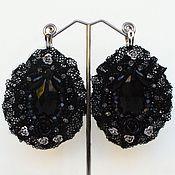 Украшения handmade. Livemaster - original item Earrings with lace in the style of Dolce Gabbana. Handmade.