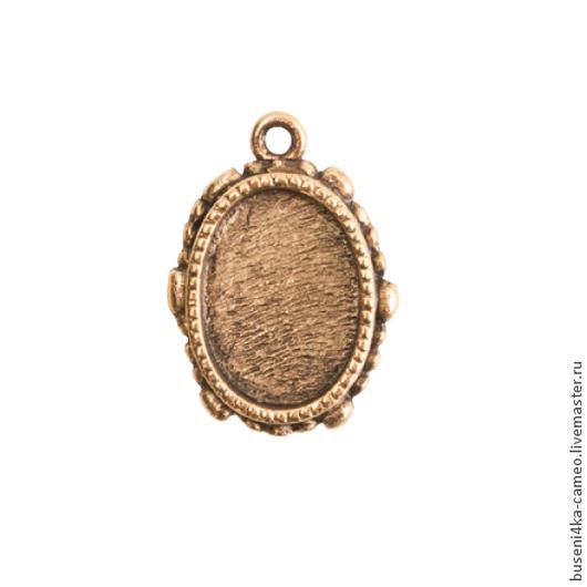 Для украшений ручной работы. Ярмарка Мастеров - ручная работа. Купить Оправа Винтаж 10х14мм, ND античное золото (1шт). Handmade.