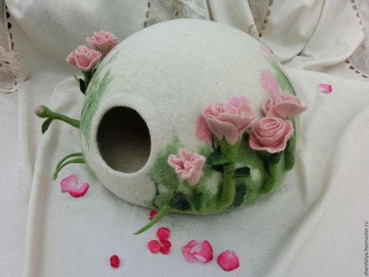 """Аксессуары для кошек, ручной работы. Ярмарка Мастеров - ручная работа. Купить Домик для котика """" Нежный розовый  бутон"""".. Handmade."""