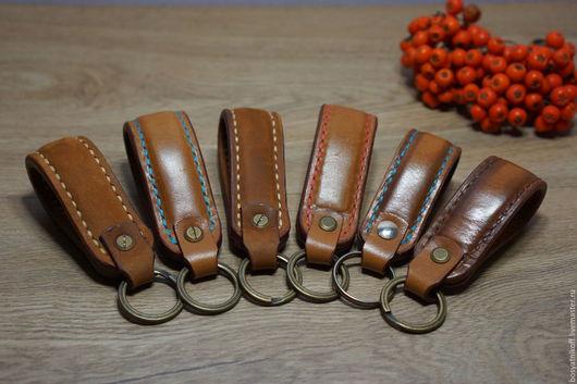 Брелоки ручной работы. Ярмарка Мастеров - ручная работа. Купить Брелок для ключей из натуральной итальянской кожи ручной работы.. Handmade.