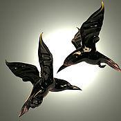 Для дома и интерьера handmade. Livemaster - original item Interior hanging decoration stained glass bird crow Sort. Handmade.