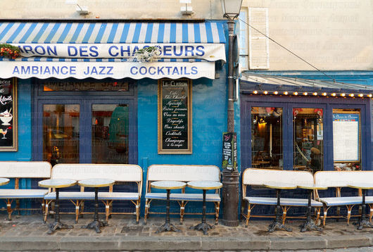 """Фотокартины ручной работы. Ярмарка Мастеров - ручная работа. Купить Фотокартина """"Париж. Синее кафе в сердце Монмартра"""". Handmade. Фотография"""