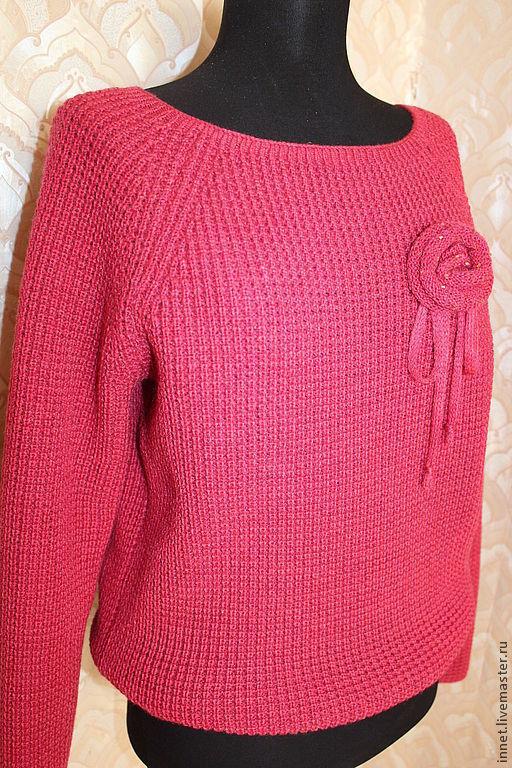 Кофты и свитера ручной работы. Ярмарка Мастеров - ручная работа. Купить Кофта женская вязаная - 028. Handmade. Однотонный