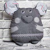 Мягкие игрушки ручной работы. Ярмарка Мастеров - ручная работа Серая мышка.. Handmade.