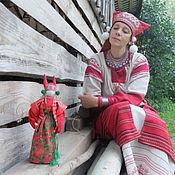 Куклы и игрушки ручной работы. Ярмарка Мастеров - ручная работа Хозяйка брусничной поляны. авторская кукла. Handmade.